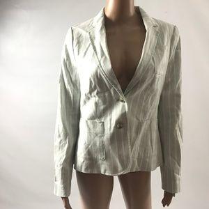 Banana Republic Women's Blazer Jacket Pinstriped
